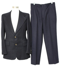 1970's Mens Contrasting Combo Disco Suit