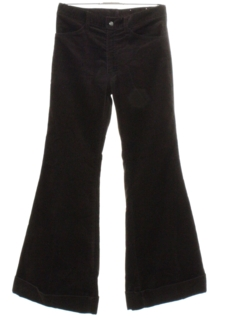 1970's Mens Bellbottom Corduroy Jeans Cut Pants