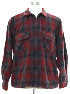 1960's Mens Pendleton CPO Flannel Shirt Jacket