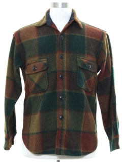 1980's Mens Wool CPO Shirt Jacket