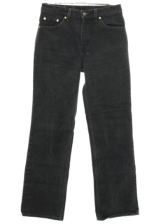 1980's Womens Bootcut Flared Denim Jeans Pants