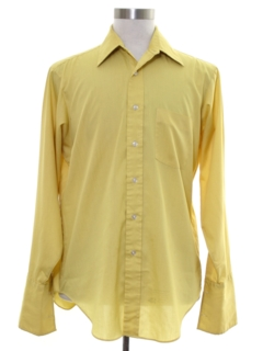 1970's Mens Mod French Cuff Shirt