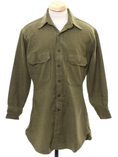 1950's Mens Military Style Shirt