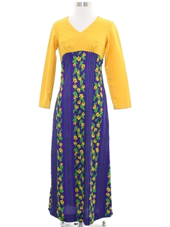 1960's Womens or Girls Hawaiian Hippie Dress