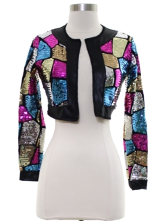 1990's Womens or Girls Sequined Cocktail Jacket