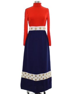 1970's Womens Designer Mod Knit Dress