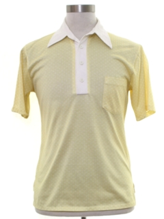 1970's Mens Mod Pullover Golf Style Shirt