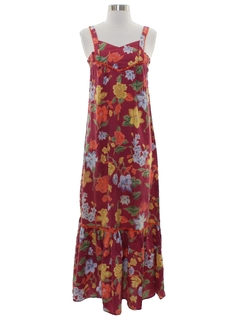 1970's Womens/Girls Hippie Maxi Dress Dress