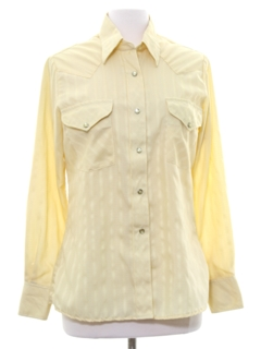 1980's Womens Solid Western Shirt