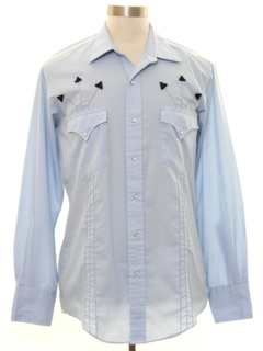 1980's Mens Solid Western Shirt