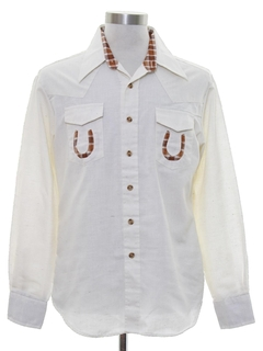 1970's Mens Two Tone Western Shirt