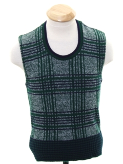 1960's Mens Mod Pullover Sweater Vest