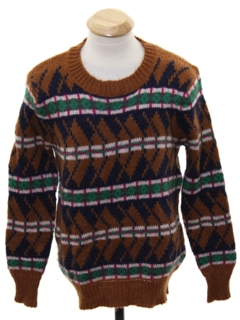 1980's Mens/Boys Totally 80s Cosby Style Sweater