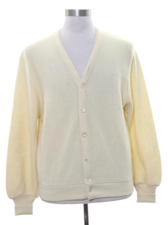 1960's Mens Cardigan Golf Sweater