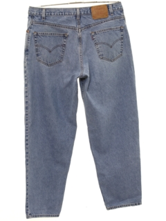 1990's Mens Baggy Tapered Leg Denim Jeans Pants
