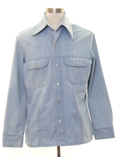 1970's Mens Denim Leisure Style Shirt Jacket