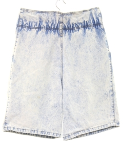1980's Womens Totally 80s Acid Washed Highwaisted Denim Jeans Shorts