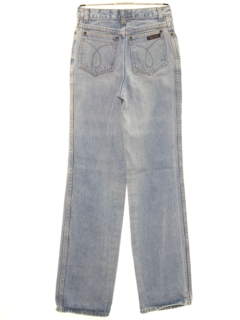 1980's Womens Totally 80s Straight Leg Designer Denim Jeans Pants