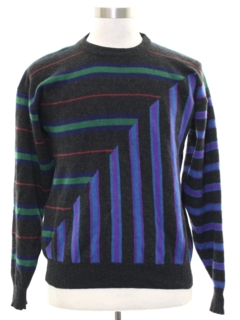 1980's Mens Totally 80s Cosby Style Cashmere Sweater