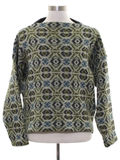 1960's Mens Mod Icelandic Wool Sweater