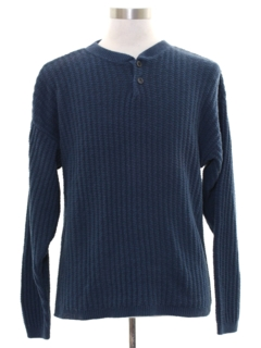 1980's Mens Henley Style Sweater