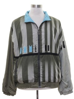 1980's Mens Totally 80s Hip Hop Style Windbreaker Jacket