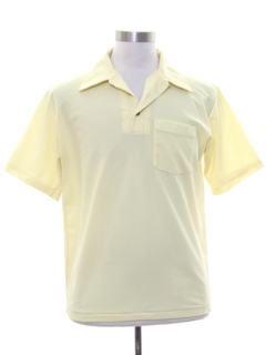 1970's Mens Mod Knit Golf Shirt