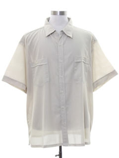 1980's Mens Mod Sheer Sport Shirt