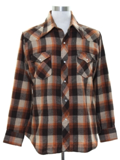 1970's Mens Western Style Wool Shirt