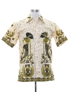 1990's Mens Hippie Ethnic Style Shirt