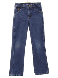 1990's Unisex Girls or Boys Western Style Straight Leg Denim Jeans Pants