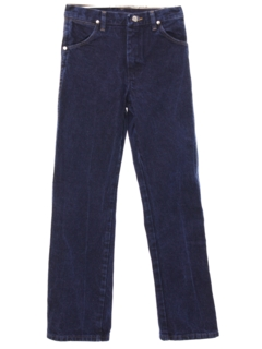 1990's Unisex Ladies or Boys Western Style Straight Leg Denim Jeans Pants