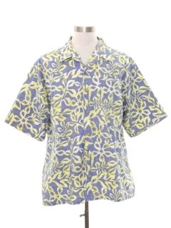 1980's Mens Totally 80s Style Reverse Print Hawaiian Shirt