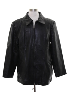 1990's Mens Leather Leisure Jacket