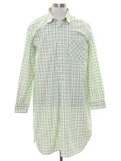 1960's Mens Night Shirt Pajamas