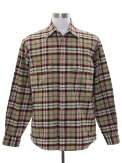 1980's Mens Flannel Sport Shirt