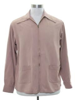 1940's Mens Gabardine Zip Jacket