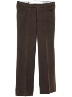 1970's Mens Mod Wool Leisure Pants