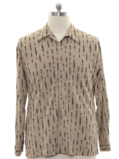 1990's Mens Print Disco Style Club/rave Shirt