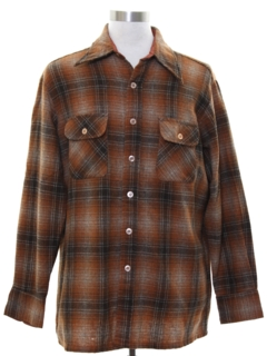 1970's Mens Wool Flannel Shirt