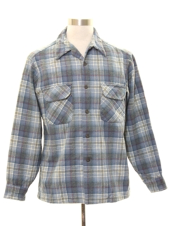 1960's Mens Pendleton Wool Flannel Board Shirt