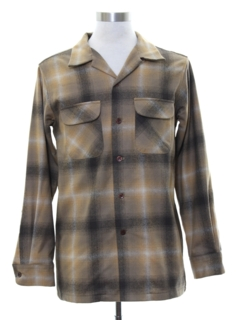 1950's Mens Pendleton Wool Flannel Board Shirt