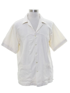 1970's Mens Guayabera Inspired Sport Shirt