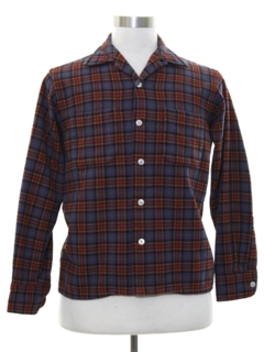 1960's Unisex Wool Flannel Shirt