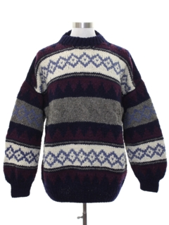 1980's Mens Totally 80s Wool Sweater