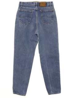 1980's Womens Totally 80s High Waisted Tapered Leg Denim Jeans Pants
