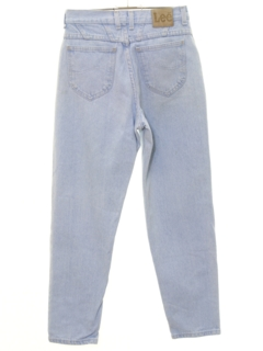 1990's Womens High Waisted Tapered Leg Denim Jeans Pants