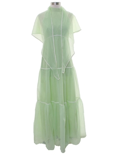 1960's Womens Hippie Style Cocktail Maxi Dress