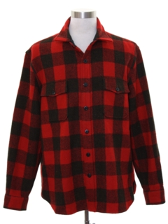 1980's Mens Lumberjack Plaid CPO Shirt Jacket