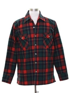1990's Mens Lumberjack Plaid CPO Style Shirt Jacket